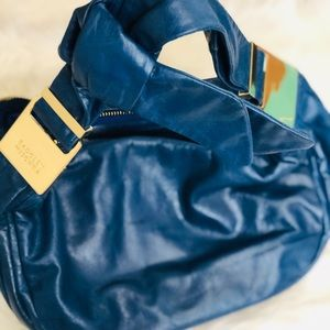 NWOT! 🆕 BADGLEY MISCHKA Cobalt Navy Blue Bow Hobo